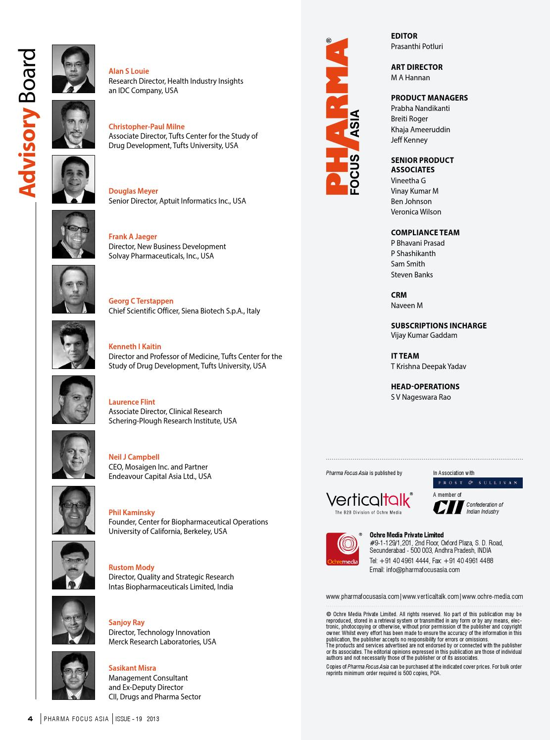 Pharma Focus Asia - Issue 19 by Ochre Media Pvt  Ltd  - issuu
