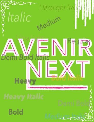 Avenir next by Karaka K Rock - issuu