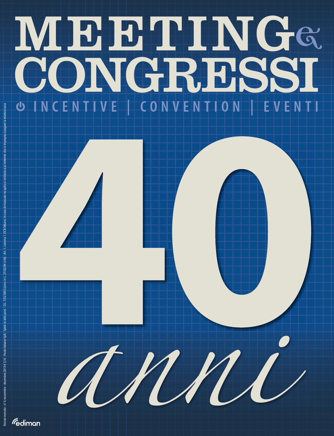 Meeting e Congressi - Speciale 40 anni by Ediman - issuu 6a5ee262aa1