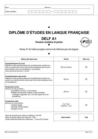 Delf a1 junior by Ceci - issuu