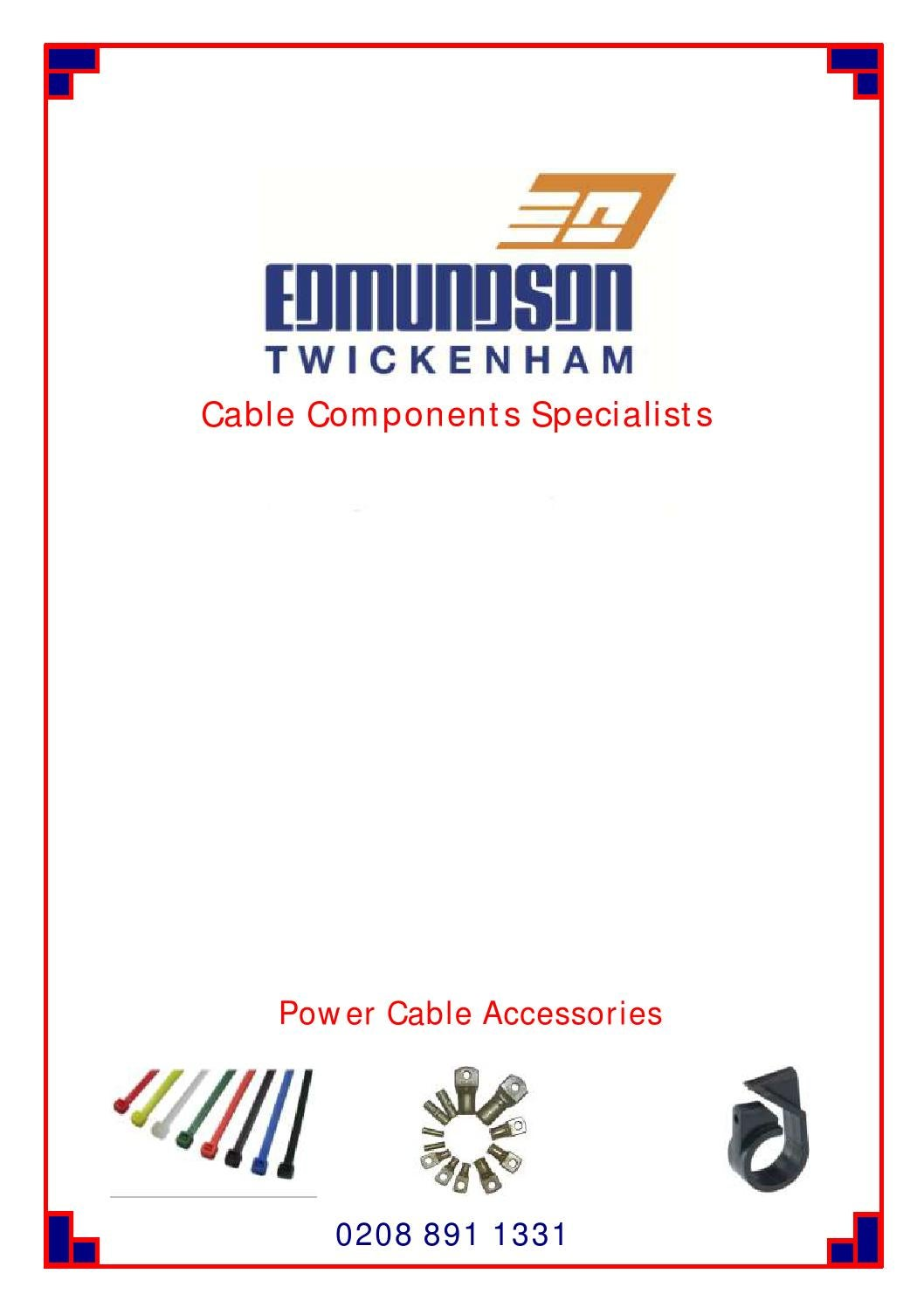Edmundson Twickenham Cable Components Catalogue By Bt300 Vfd Wiring Diagram Electrical Issuu