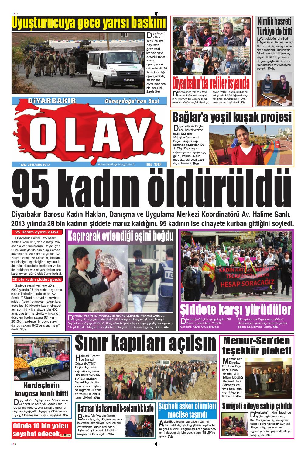 26 11 2013 Gazete Sayfalari By Diyarbakir Olaygazetesi Issuu