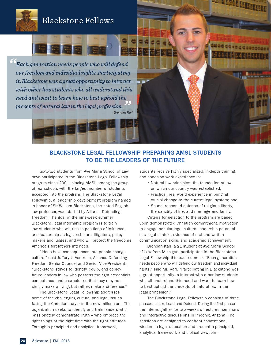 Fall 2013 Advocate by Ave Maria Law - issuu