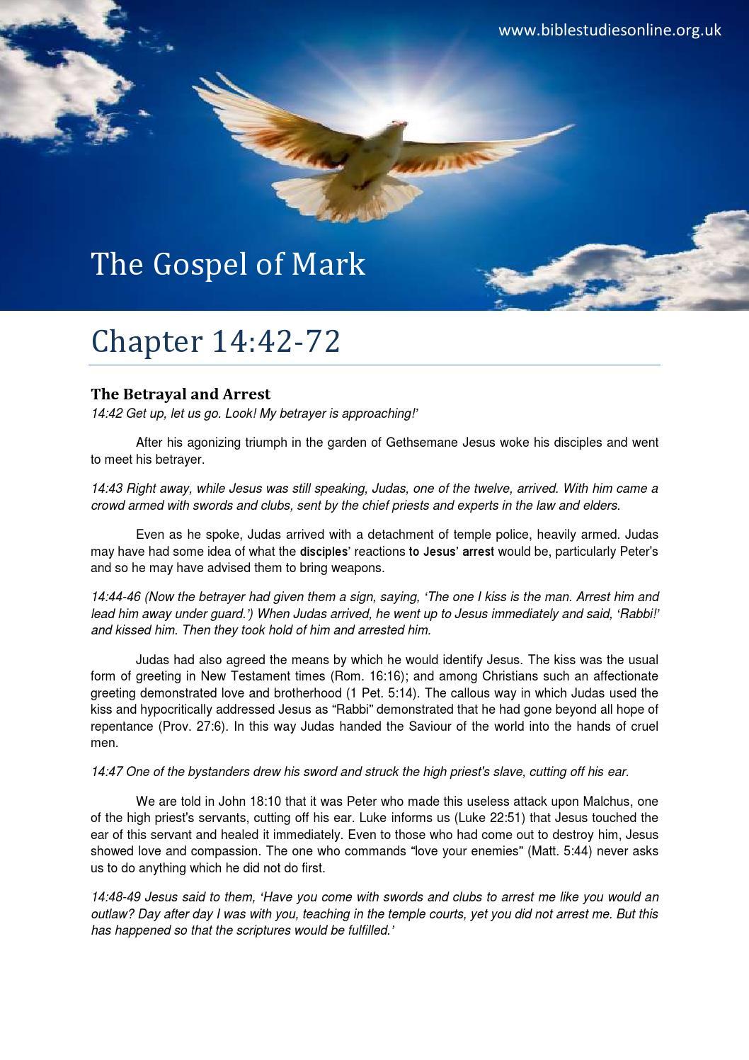 Mark 14 bible study part 2