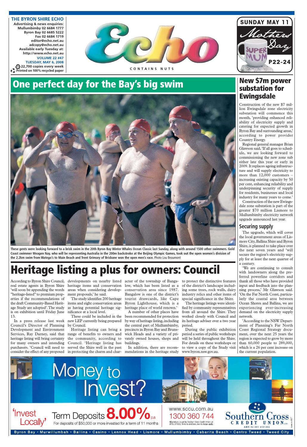 8eaf4309b501 Byron Shire Echo – Issue 22.47 – 06 05 2008 by Echo Publications - issuu