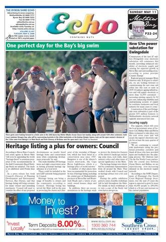 Byron Shire Echo – Issue 22 47 – 06/05/2008 by Echo Publications - issuu
