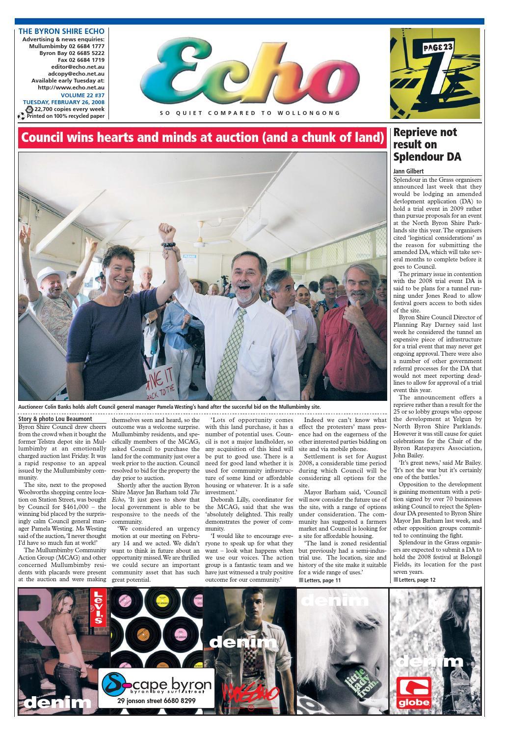a904cb65de3ca Byron Shire Echo – Issue 22.37 – 26 02 2008 by Echo Publications - issuu