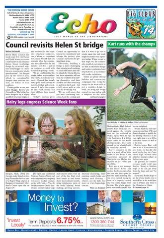 Byron Shire Echo – Issue 22 13 – 04/09/2007 by Echo