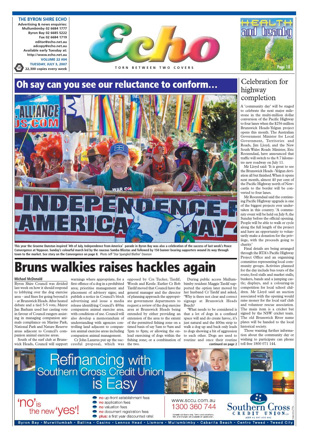 Byron Shire Echo Issue 22 04 03 07 07 By Echo Publications Issuu