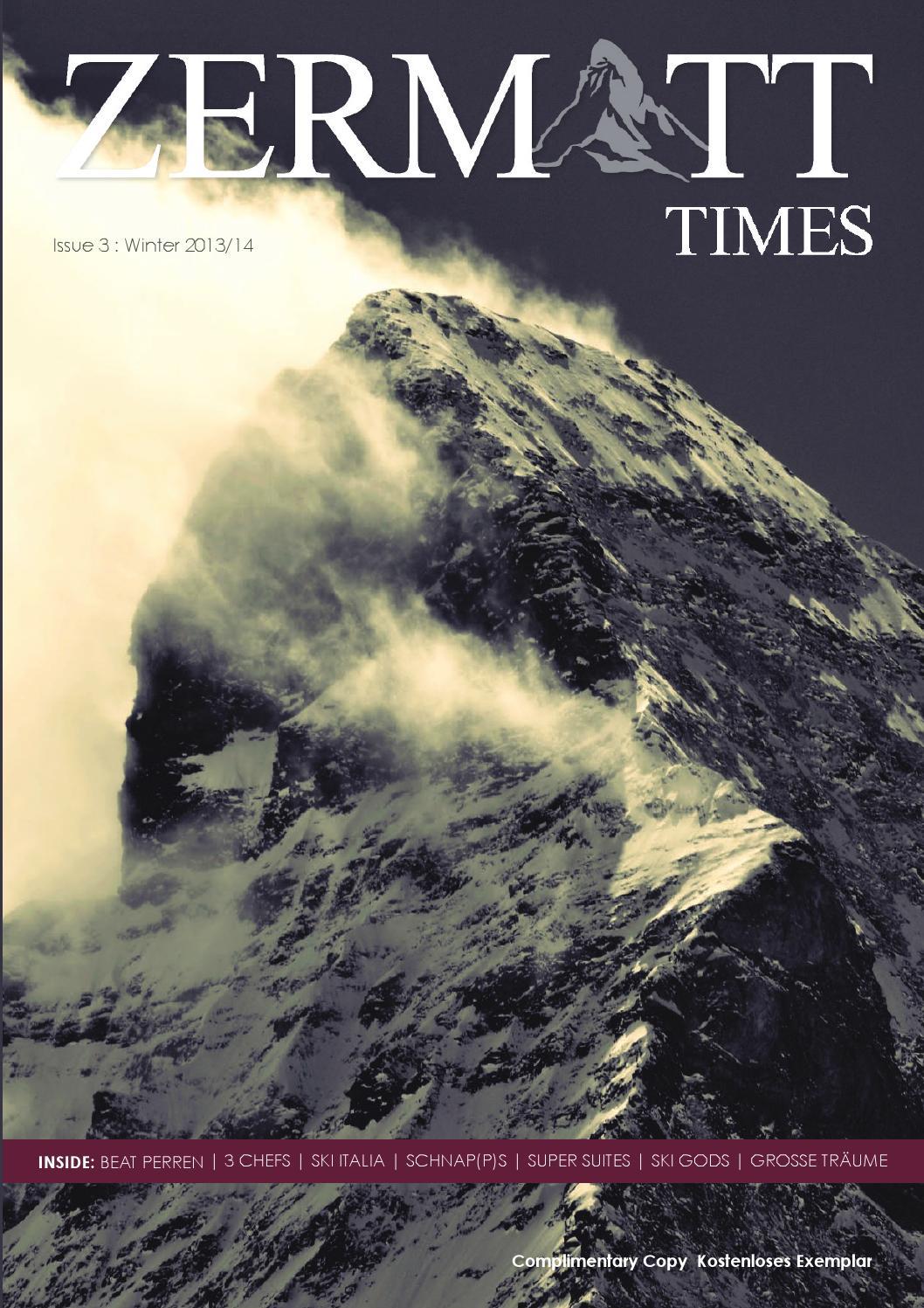 Zermatt Times 3 Winter 2013 by The Magazine Production Company - issuu