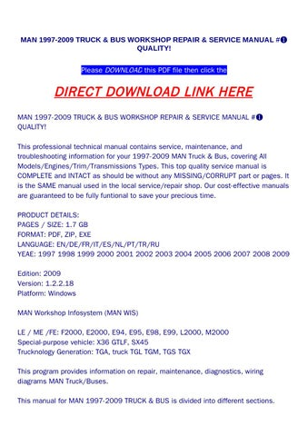page_1_thumb_large man 1997 2009 truck & bus workshop repair & service manual ➀