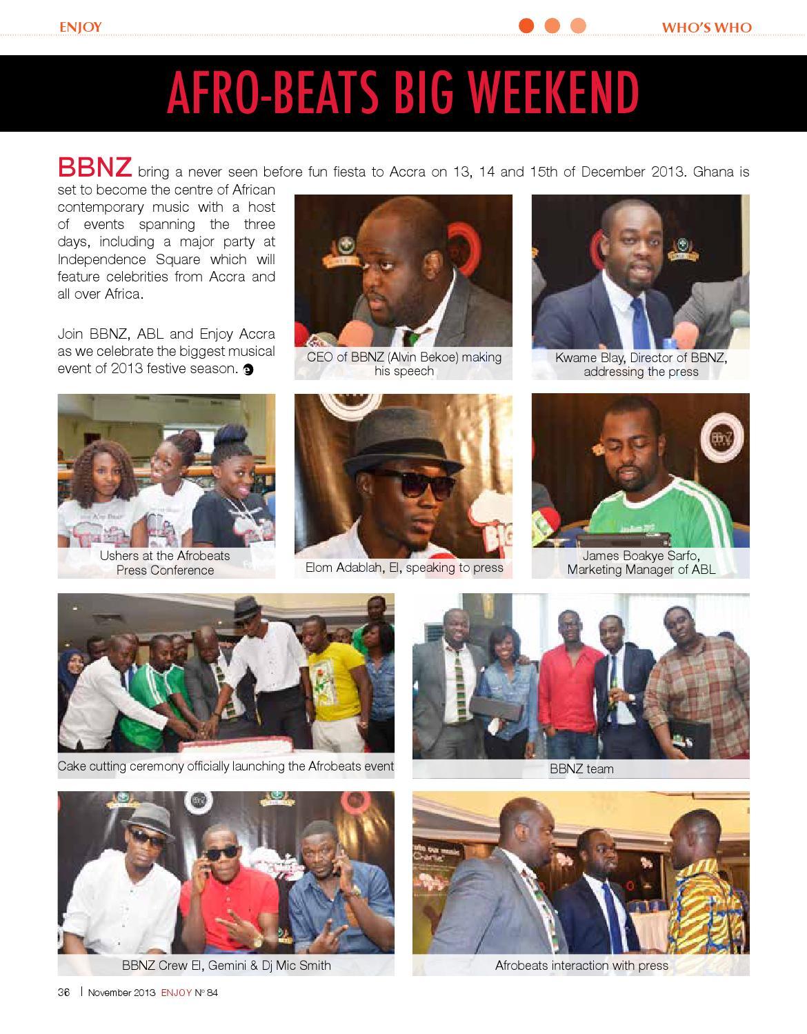 Enjoy Accra Mag No 84 - November 2013 by Metch Osnou - issuu
