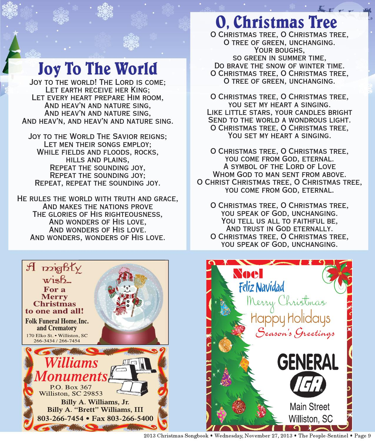 Christmas Songbook 2013 By The People Sentinel Issuu