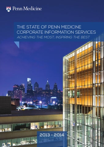 The State Of Penn Medicine Corporate Information Services Achieving Most Inspiring Best