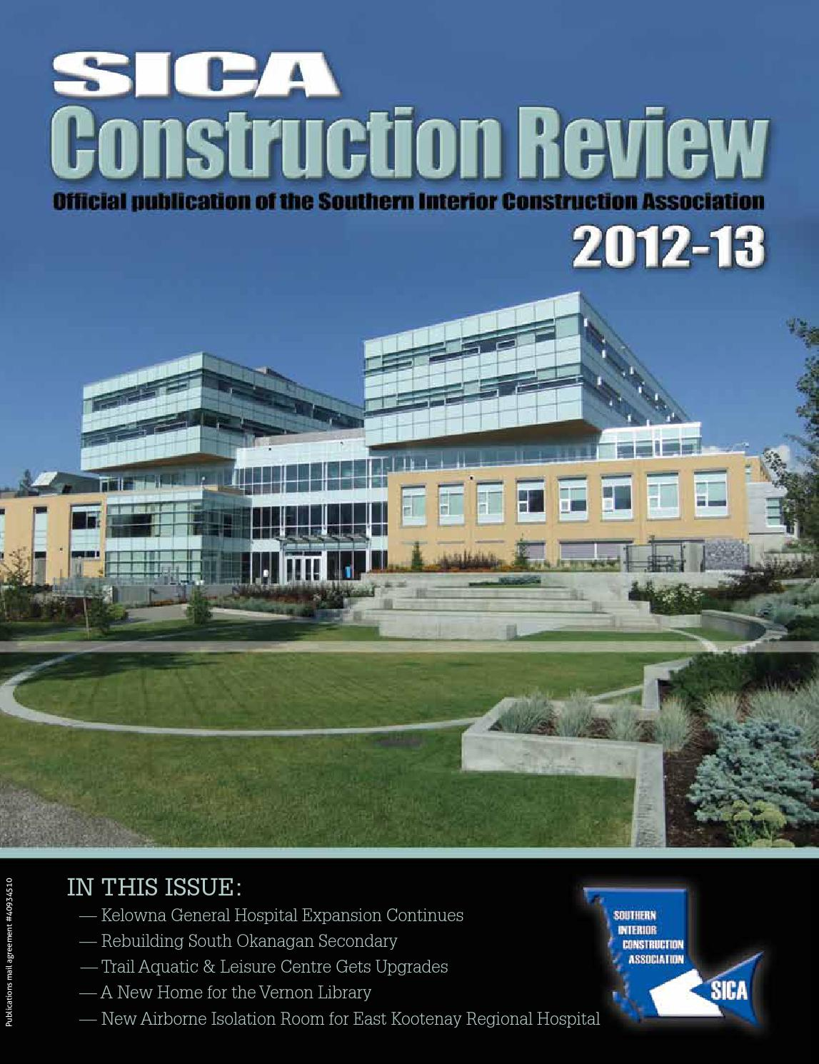 SICA Construction Review 2012 13 by SICAbc