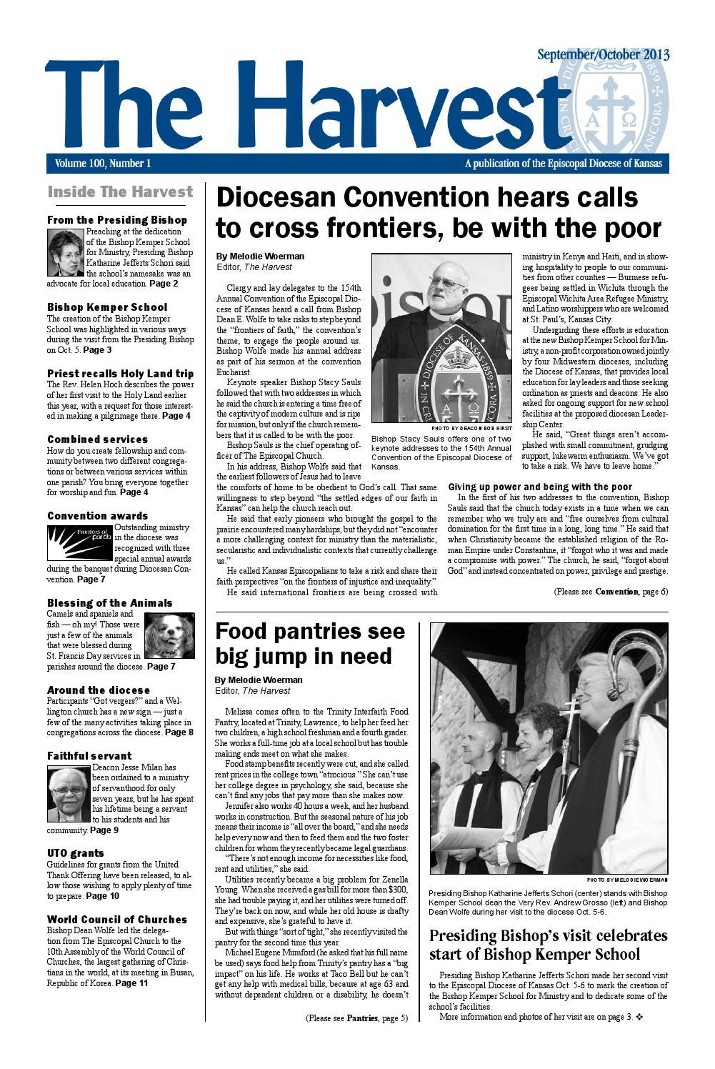 The Harvest, September-October 2013 by Episcopal Diocese of Kansas