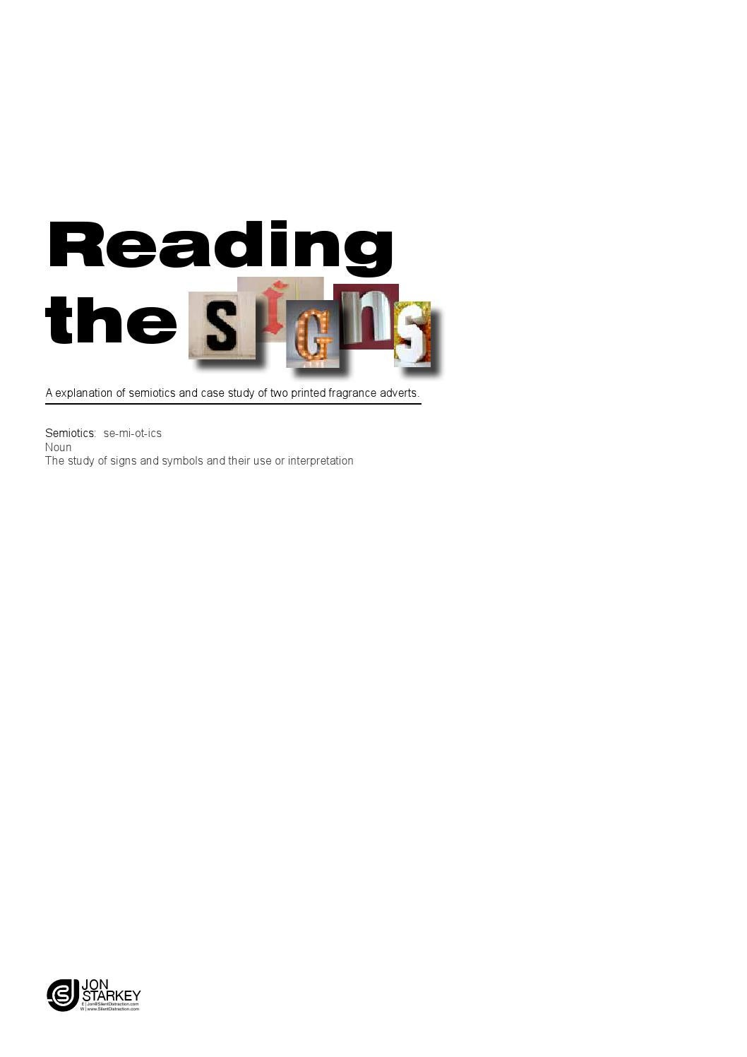 Reading The Signs Semiotics By Silentdistractiondesign Issuu