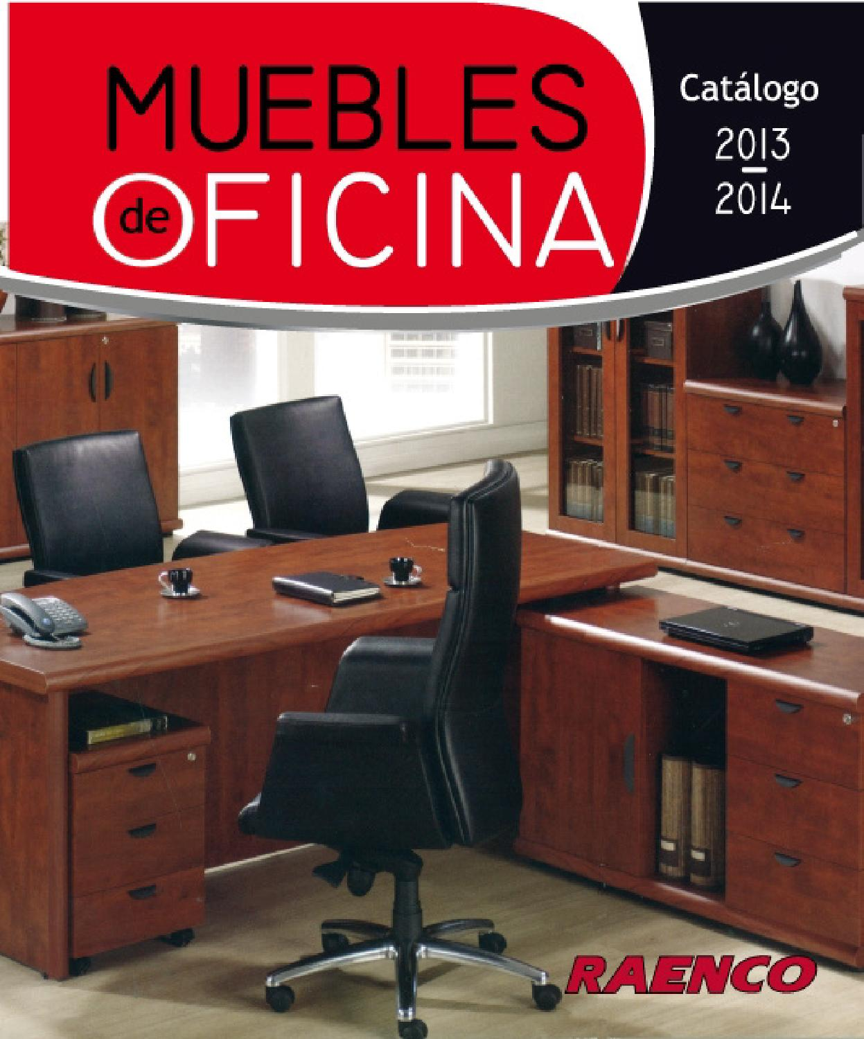 Cat logo raenco oficina by interiores estilo issuu for Muebles de oficina wengue