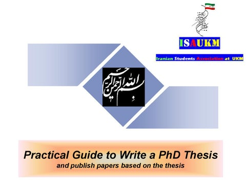 Ukm How To Write A Phd Thesis And Paper 06 01 2012 By Nader Ale Ebrahim Issuu