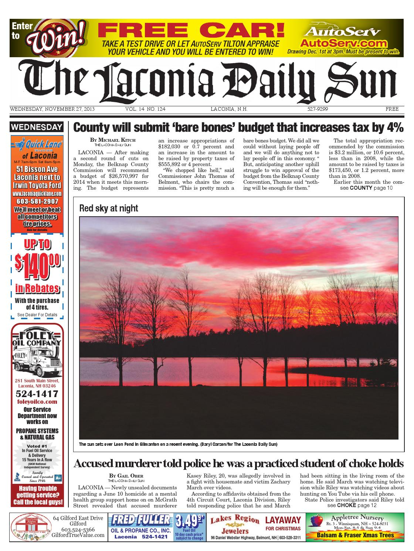 The Laconia Daily Sun November 27 2013 By Daily Sun Issuu