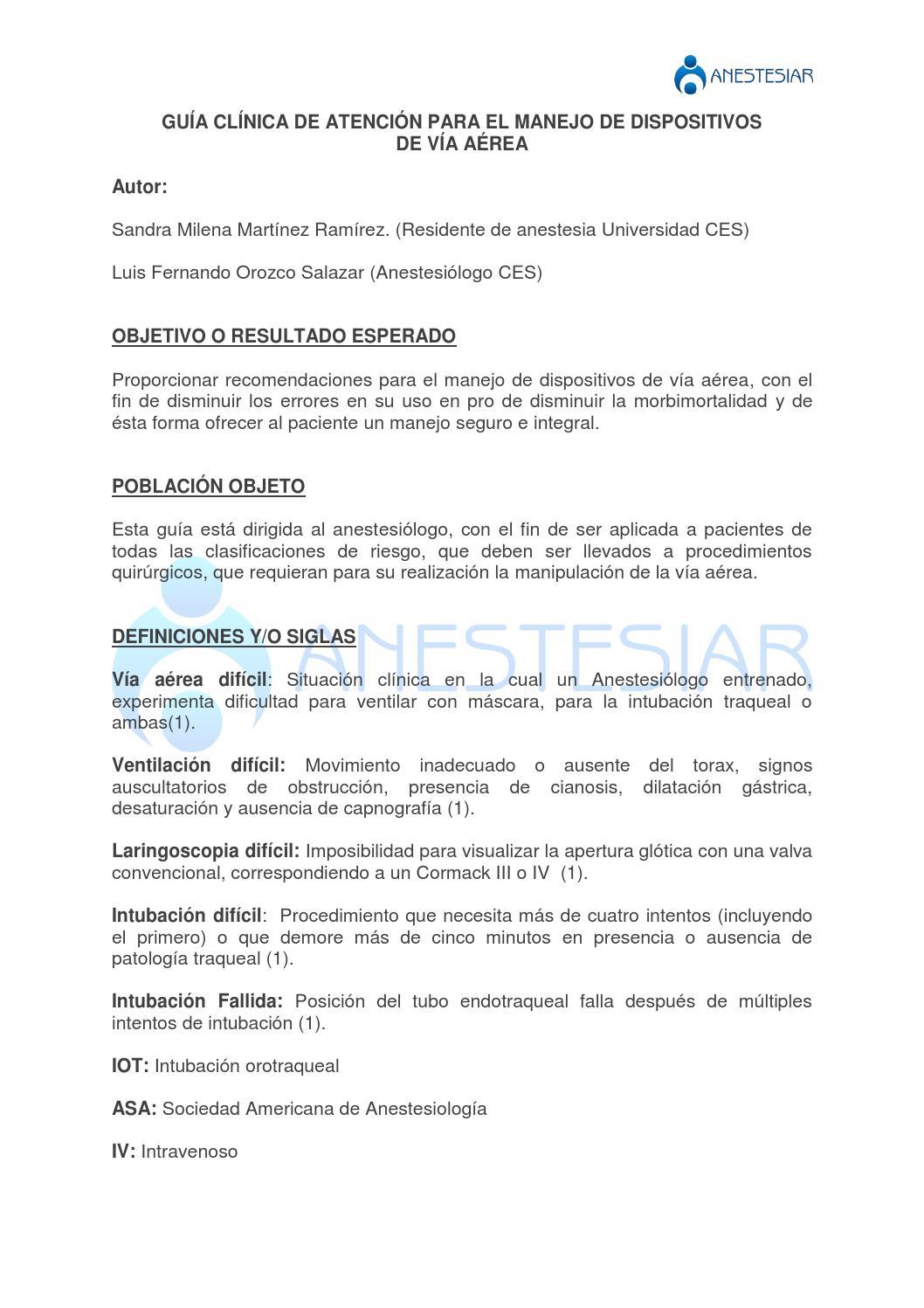 Guia para manejo de dispositivos de va by FEDSalud Federación ...