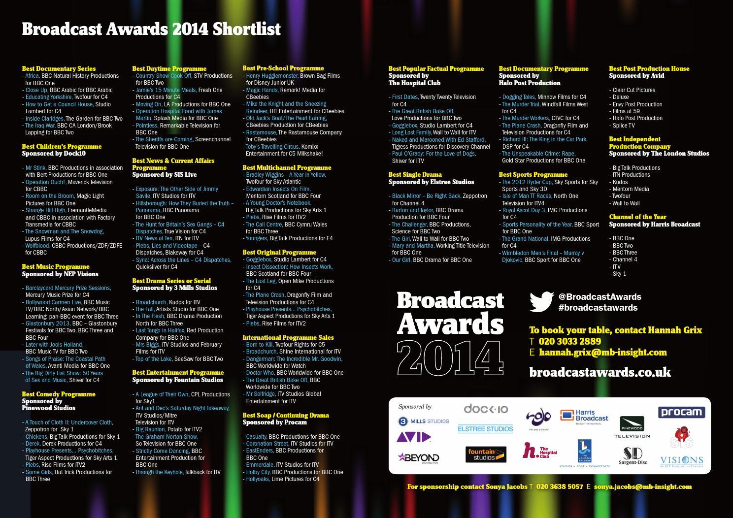 Bc awards shortlist dps by Media Business Insight - issuu