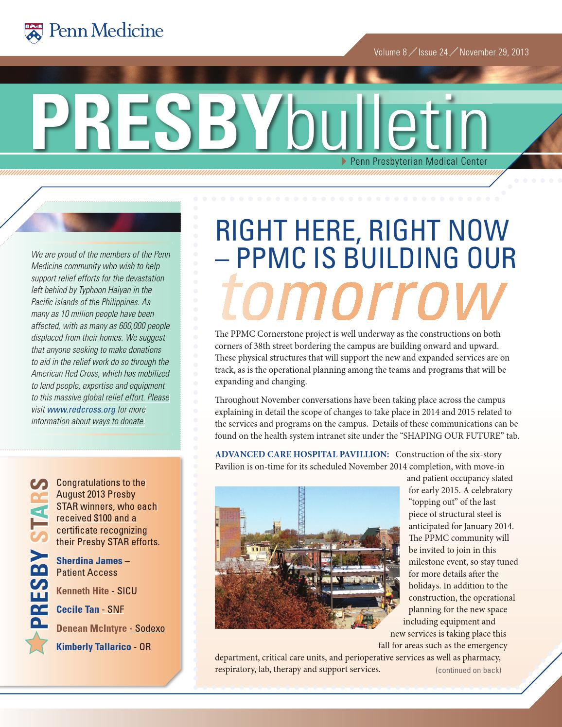 Presbybulletin -- November 29 by Penn Medicine - issuu