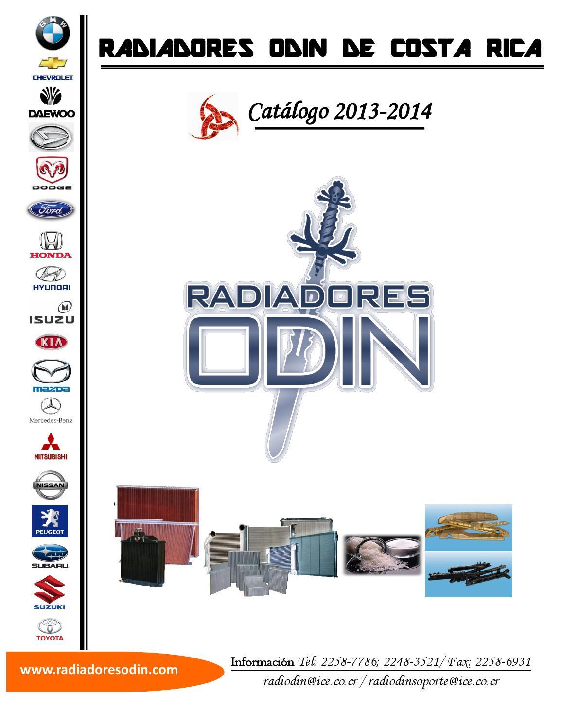 Catalogo radiadores 2014 costa rica by alex trejos issuu for Catalogo de radiadores