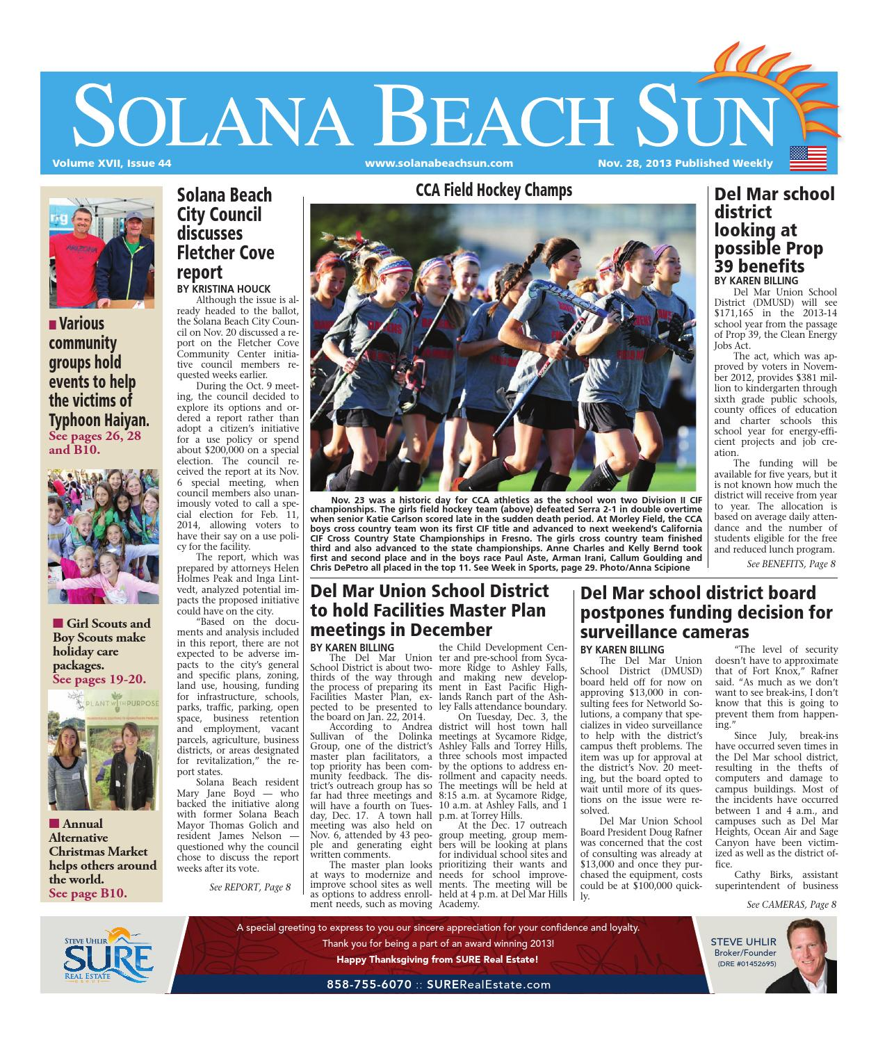 Solana Beach Sun 11 28 13 By Mainstreet Media Issuu