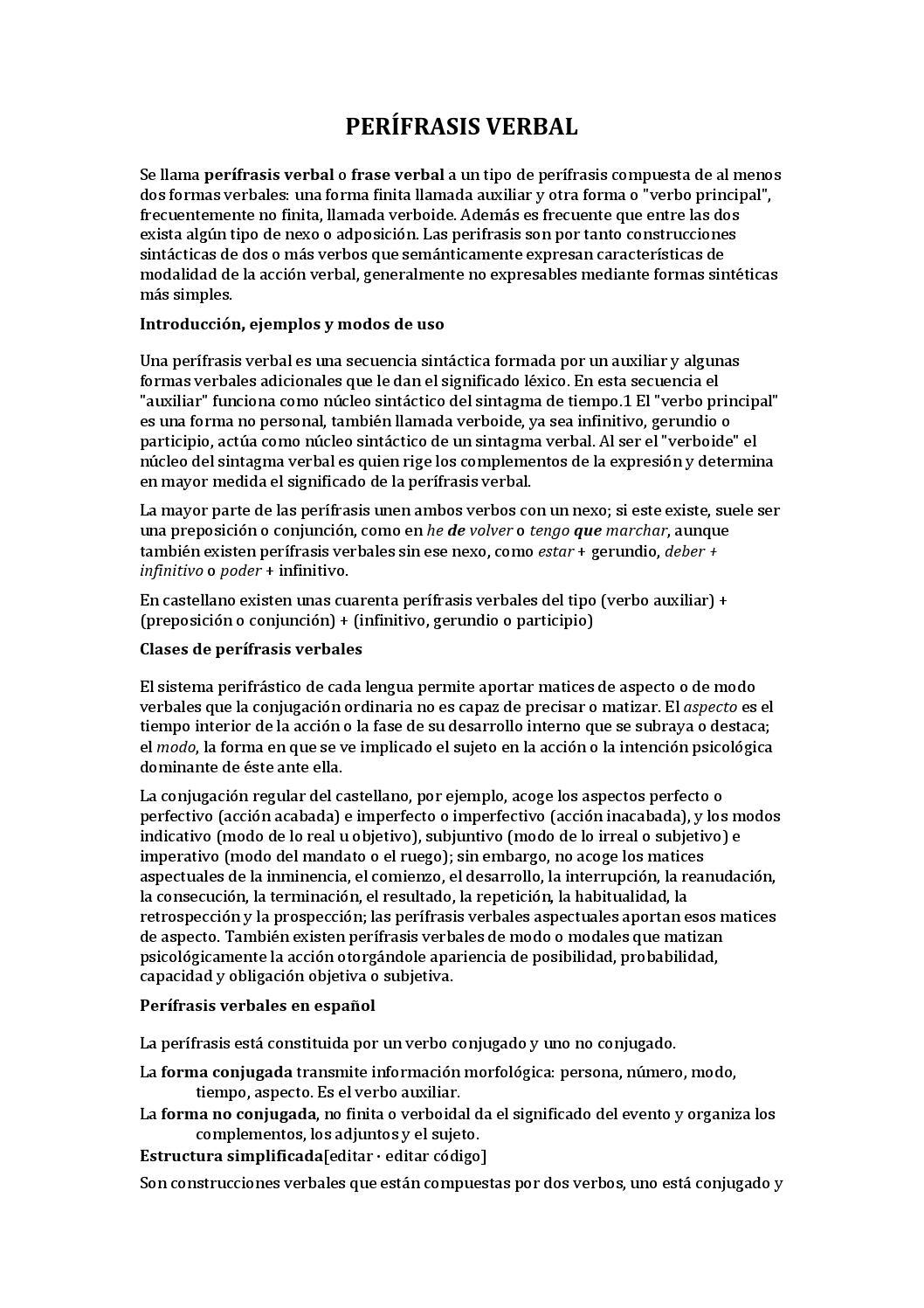 Perífrasis verbal by Oscar Mendoza - issuu