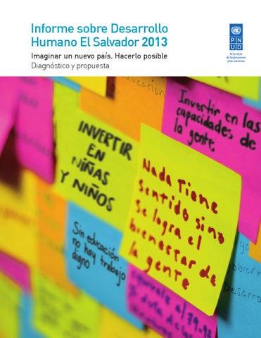 Informe sobre Desarrollo Humano El Salvador 2013 by PNUD El Salvador ... 170f911d8ac