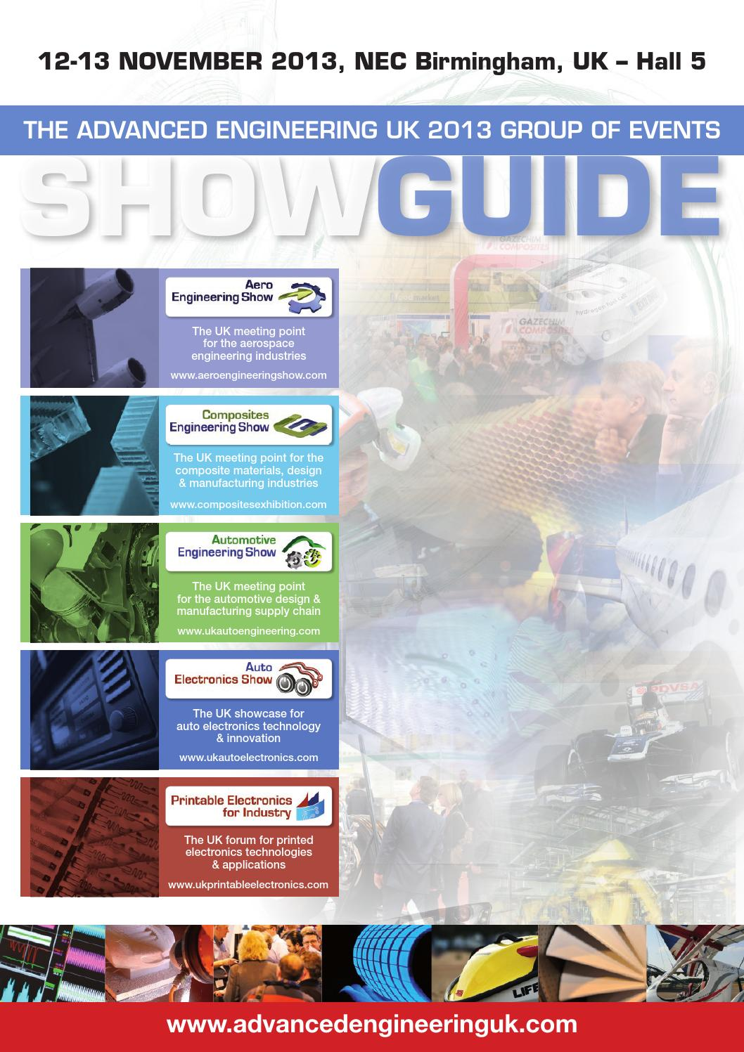Advanced Engineering Show Guide 2013 by The Magazine Production Company -  issuu