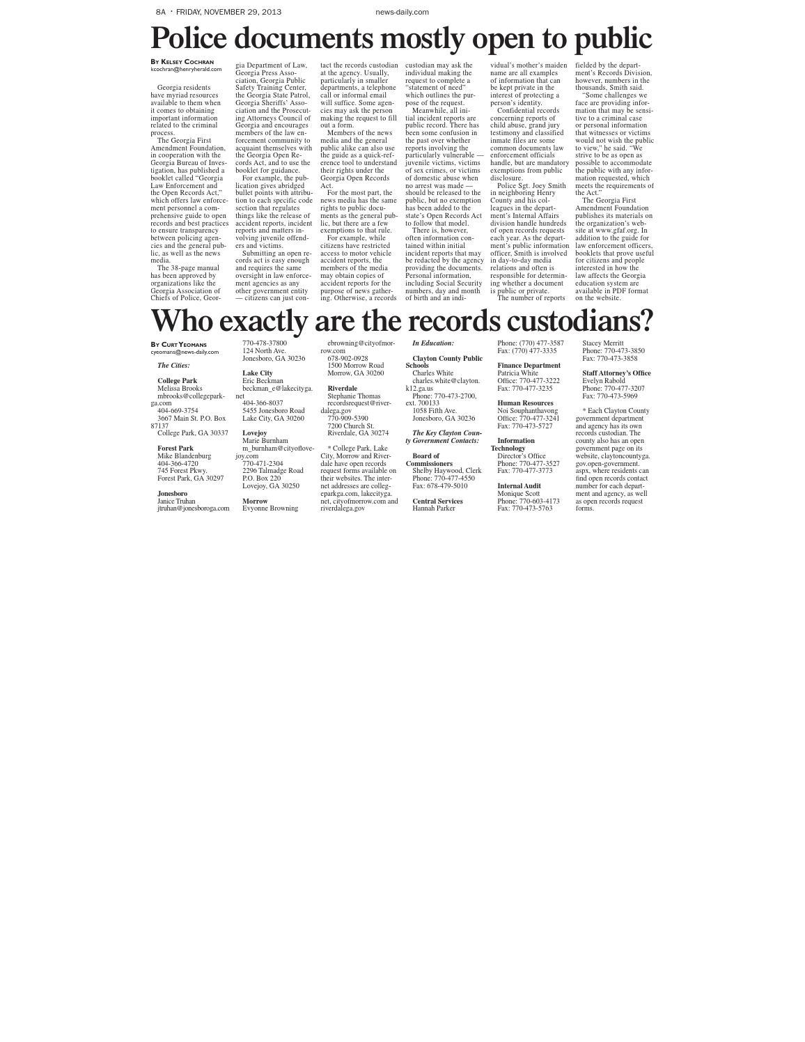Claytonfreedomofinformation by Gwinnett Daily Post - issuu