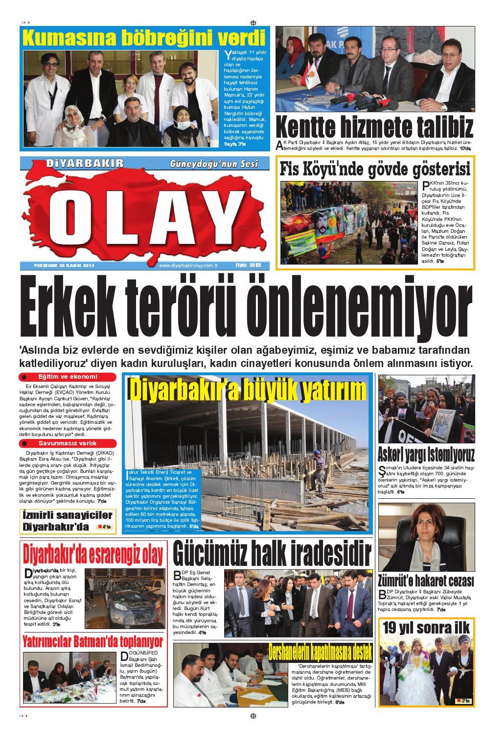 28 11 2013 Gazete Sayfalari By Diyarbakir Olaygazetesi Issuu