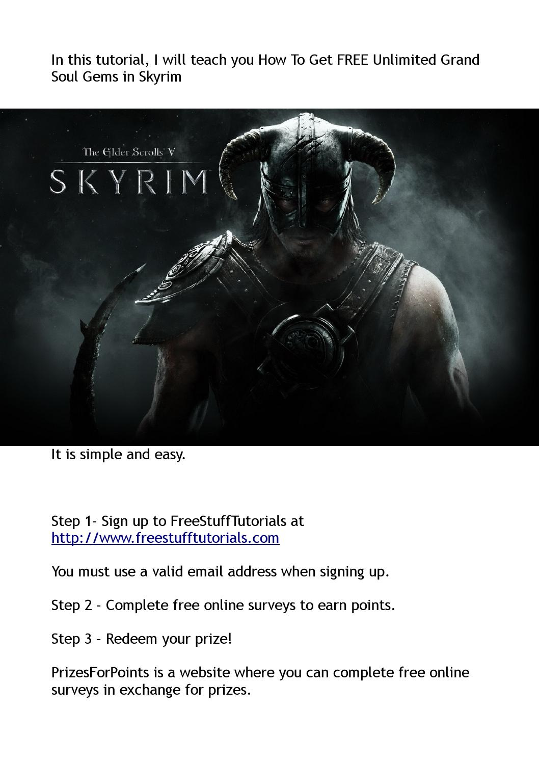 How To Get FREE Unlimited Grand Soul Gems in Skyrim by