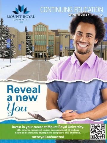 Mount royal university continuing education creative writing