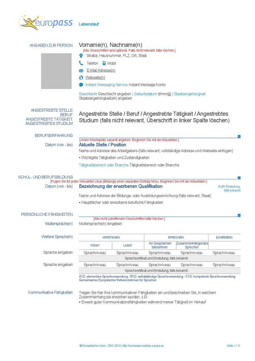 europass cv by sran bai issuu - Sprachniveau Lebenslauf