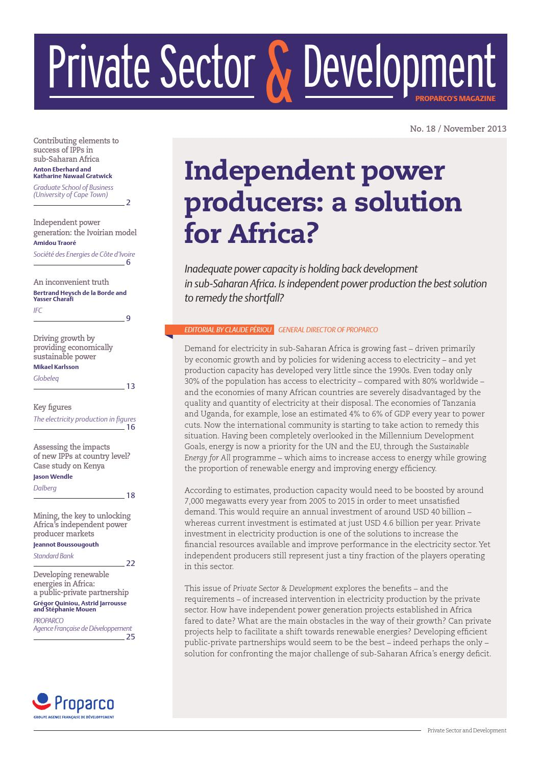 how to become an independent power producer