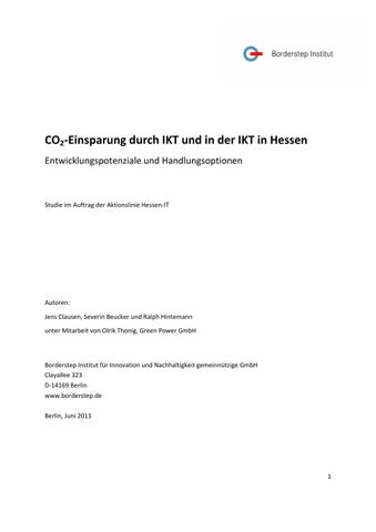 CO2-Einsparung durch IKT und in der IKT in Hessen by Web Support - issuu