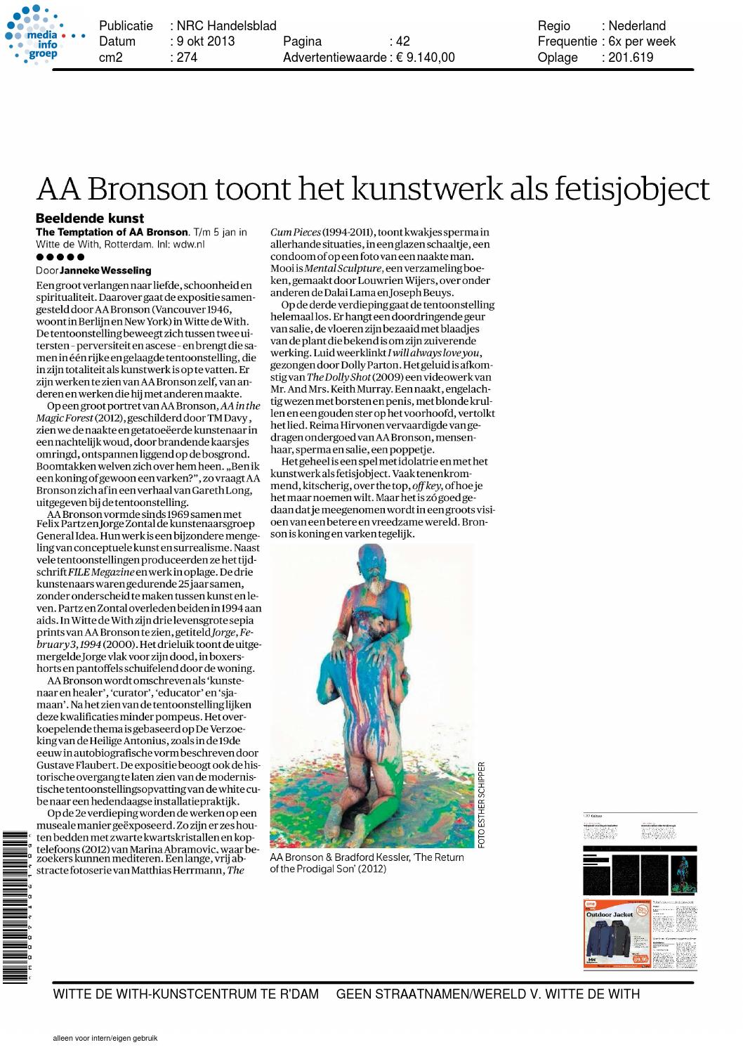Reviews The Temptation Of Aa Bronson By Witte De With Issuu