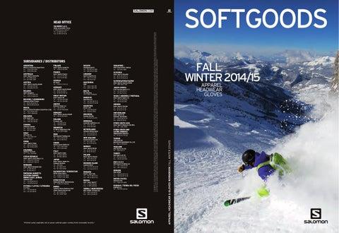 FW14 Salomon SOFTGOODS catalogue ApparelGlovesHats by