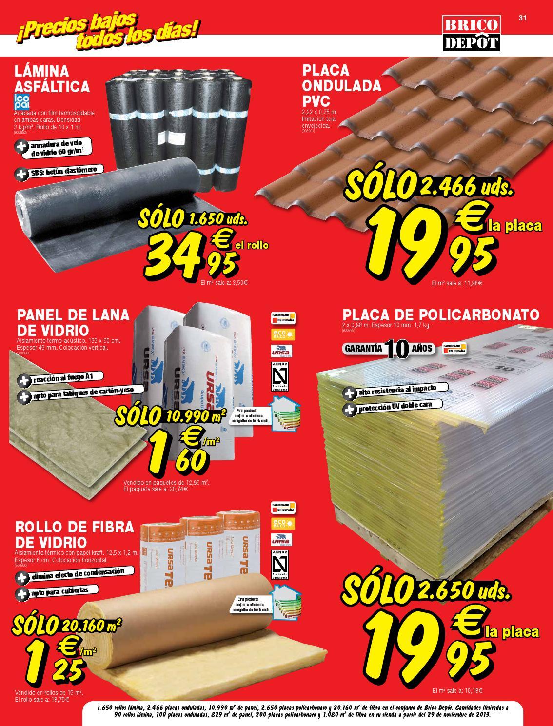 Catalogo brico depot by for Placas policarbonato bricodepot