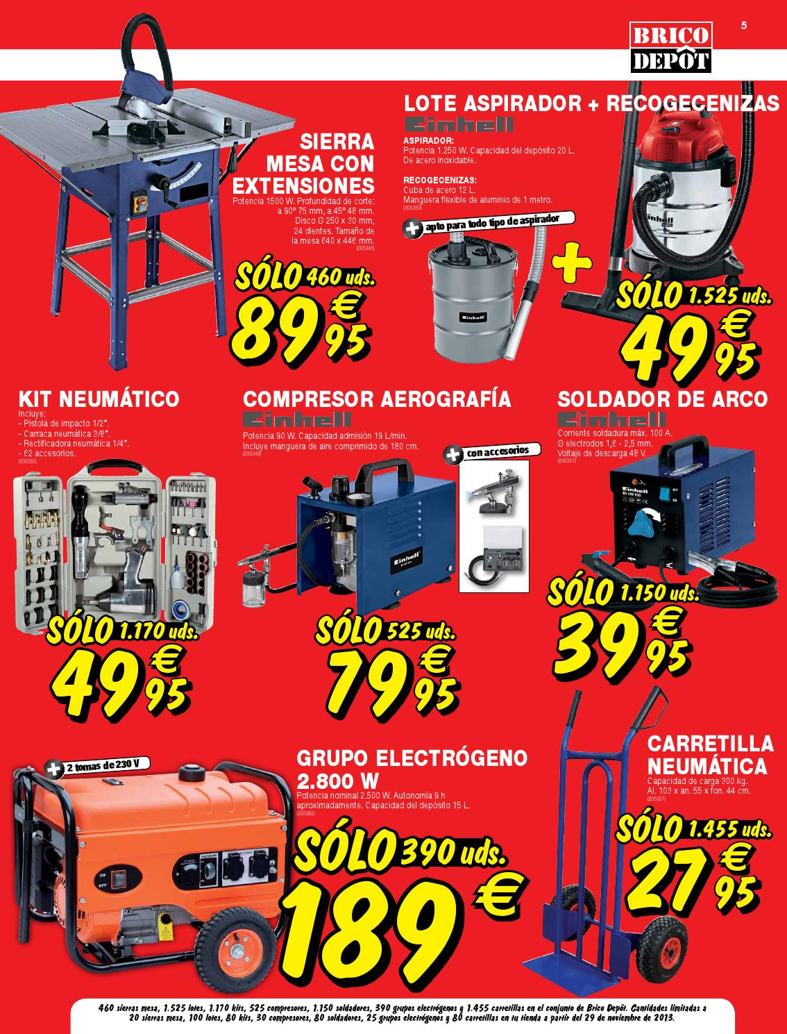 Catalogo brico depot by for Compresor de aire bricodepot