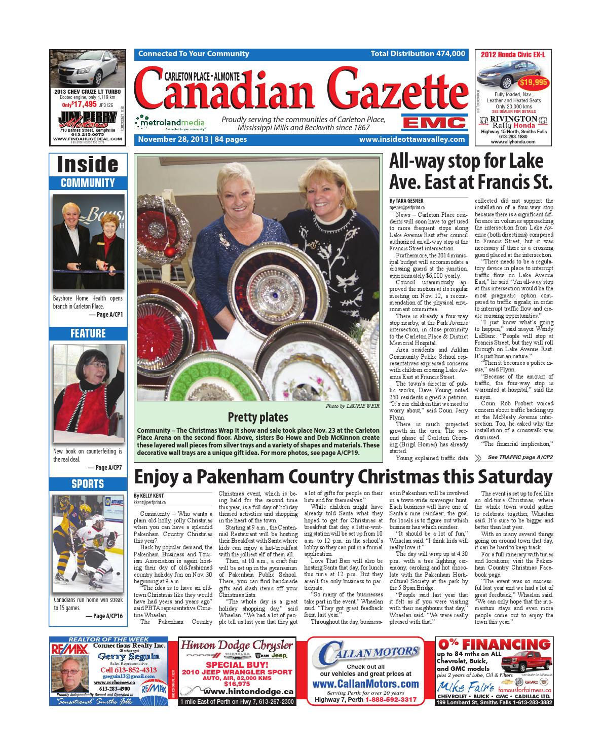 Almontecarletonplace112813 by metroland east almonte carleton place canadian gazette issuu