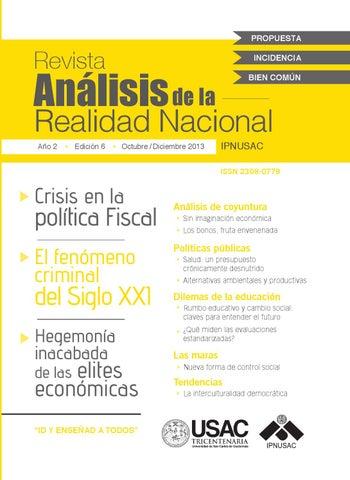 Edición Impresa No.6 by Instituto de Problemas Nacionales - issuu