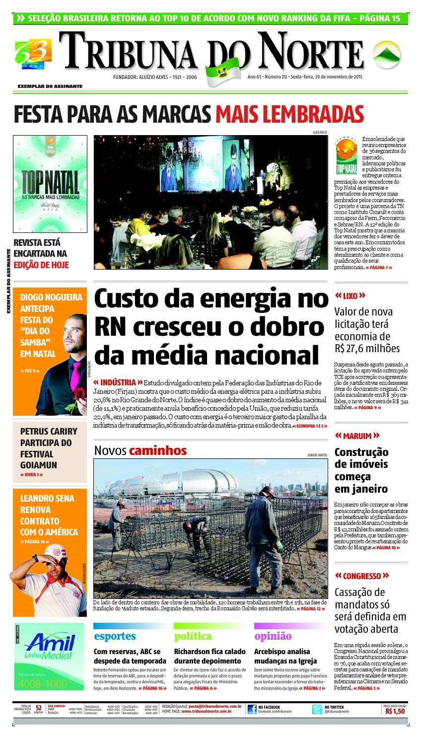 8544acd972e49 Tribuna do Norte - 29 11 2013 by Empresa Jornalística Tribuna do Norte Ltda  - issuu