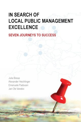 In search of local public management excellence  Seven journeys to