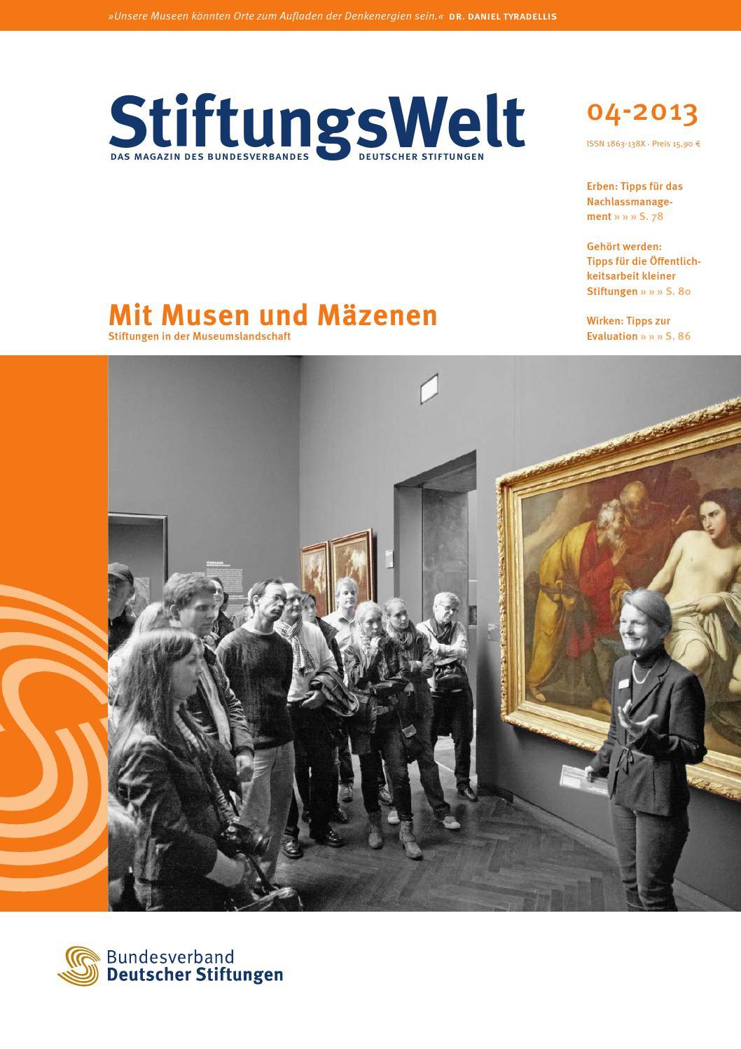 StiftungsWelt 04-2013: Mit Musen und Mäzenen by Bundesverband ...
