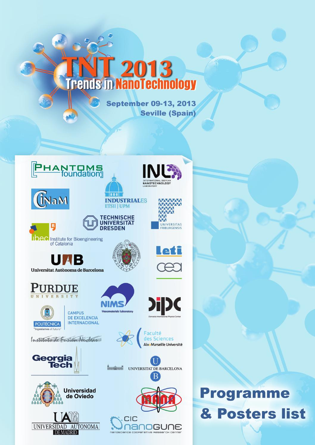 TNT2013 Abstract Book (posters) by Phantoms Foundation - issuu