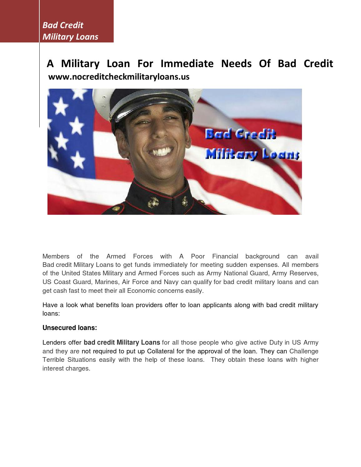 Bad Credit Military Loans >> Bad Credit Military Loans By Majid Frank Issuu